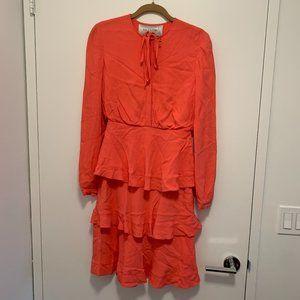 Valentino Salmon Longsleeve Formal Dress